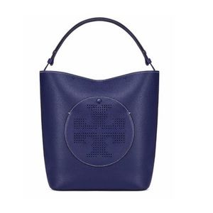 Tory Burch Perforated-logo Leather Hobo Bag